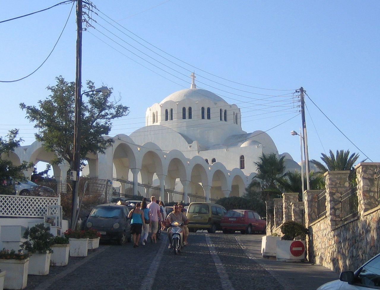 La catedral ortodoxa de Fira