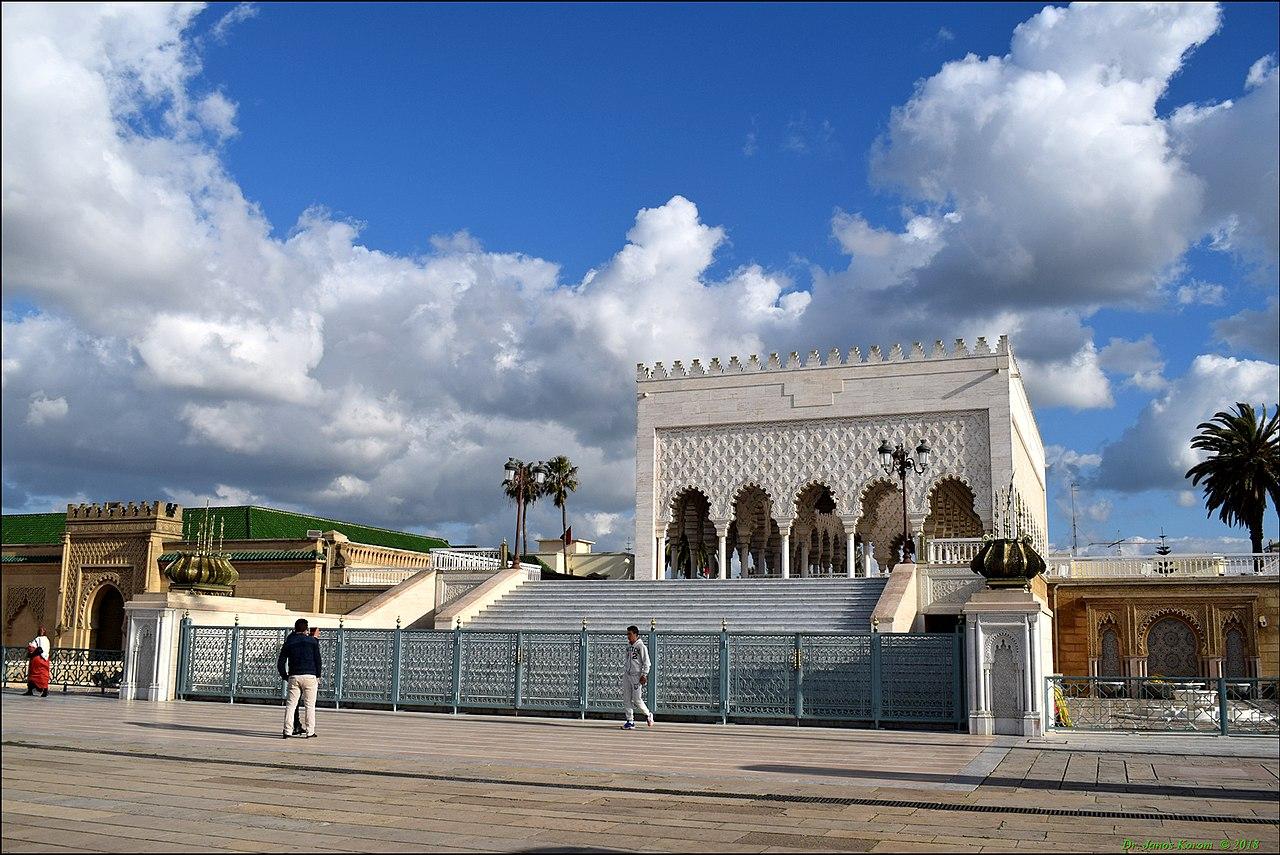 Vista del Mausoleo de Mohammet V