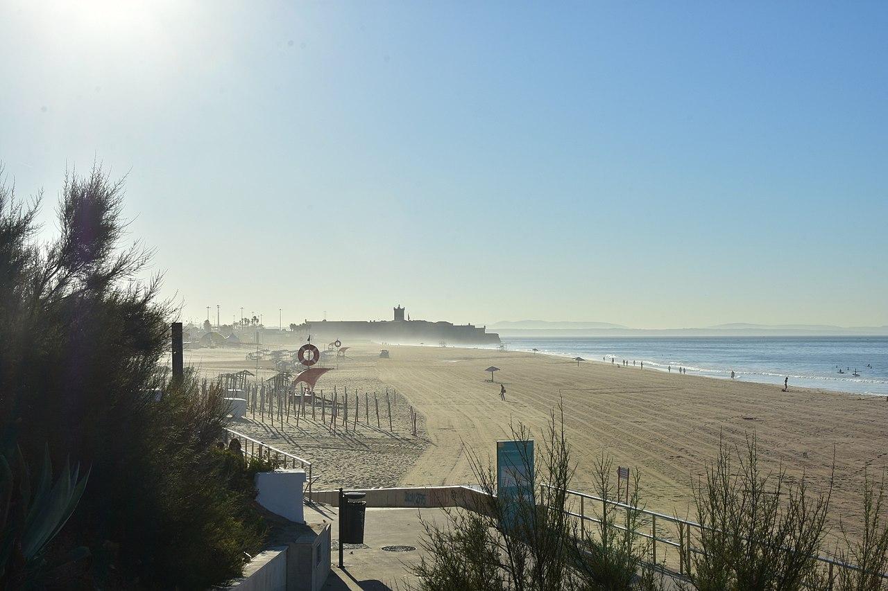 Vista de la playa de Carcavelos