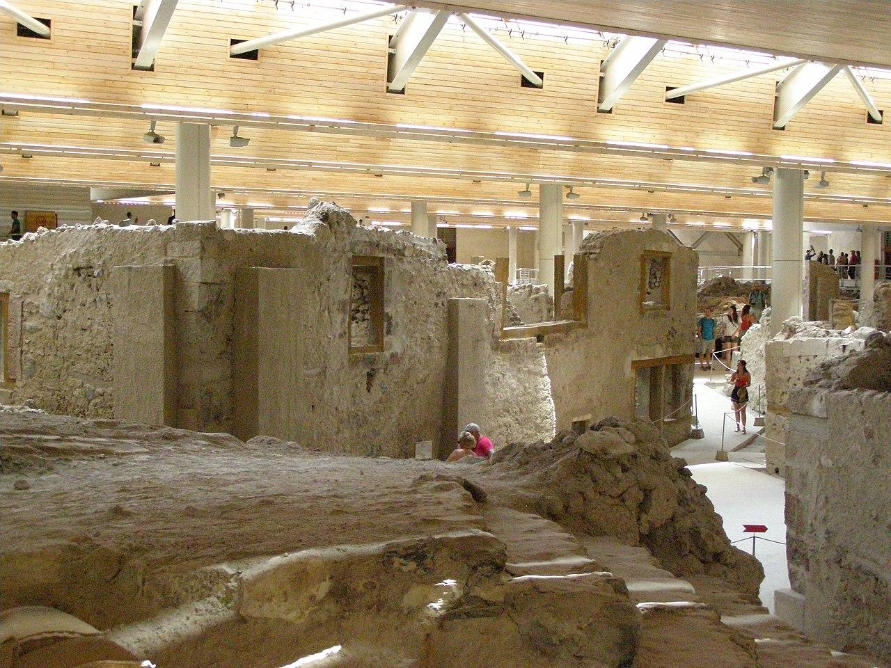 El yacimiento de Akrotiri