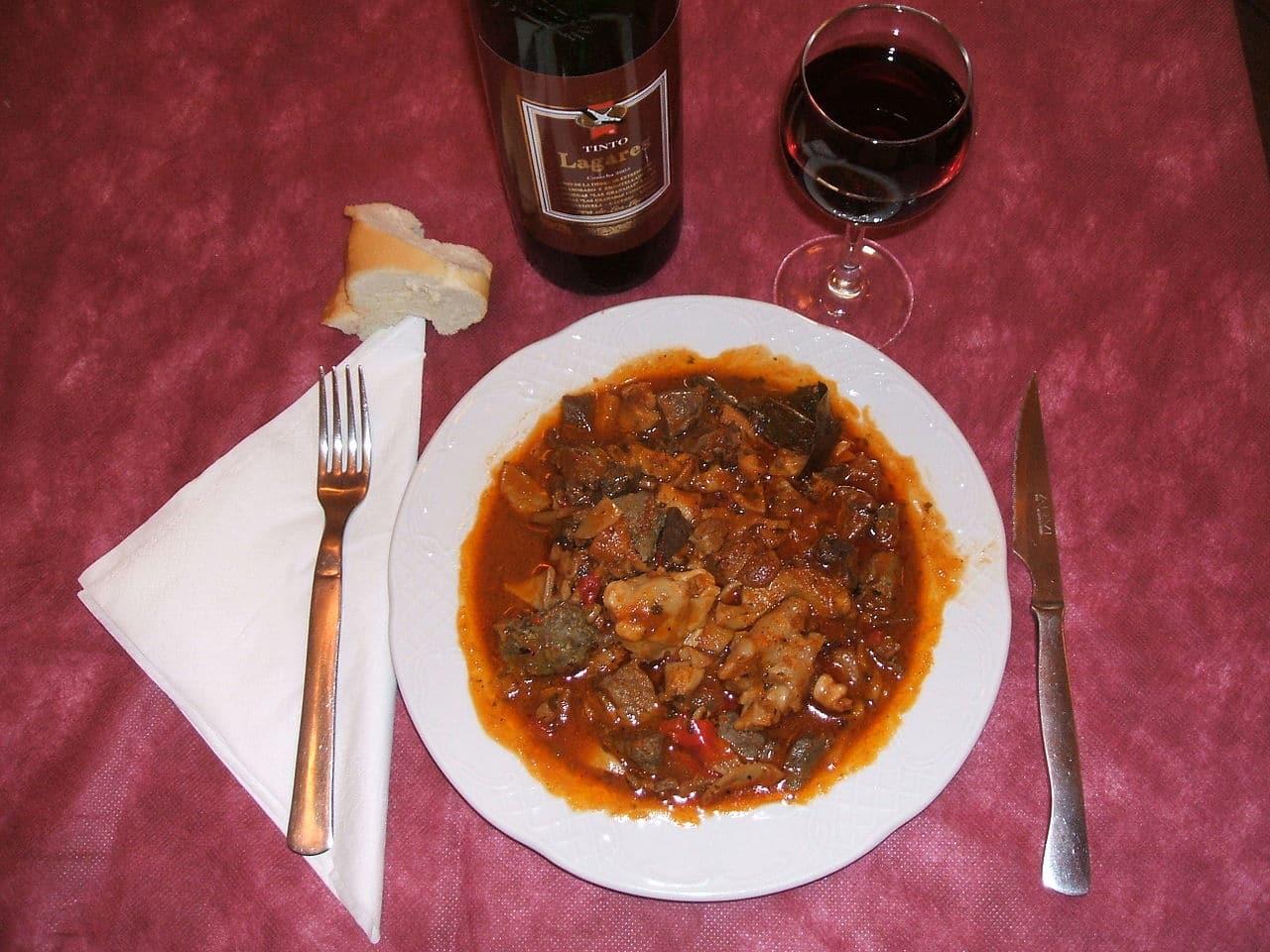 Un plato de chanfaina