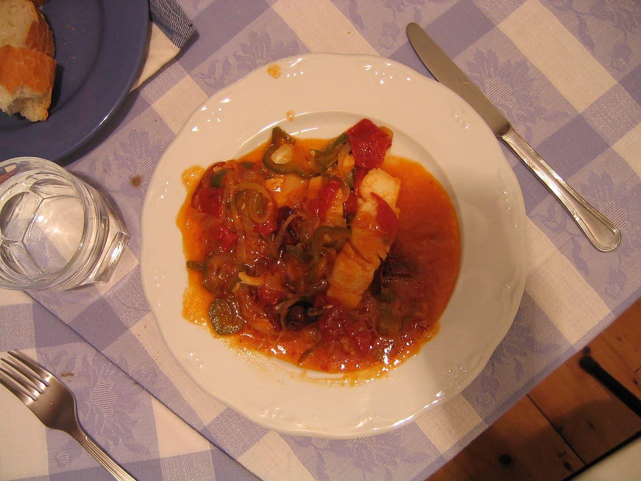 Un plato de bacalao al ajoarriero