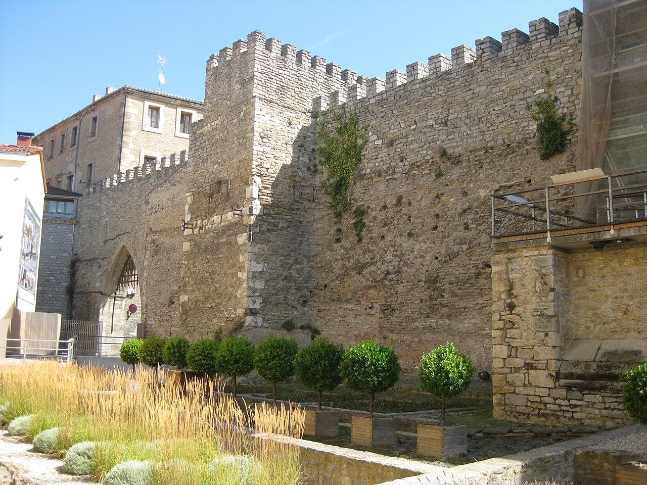 La muralla medieval de Vitoria