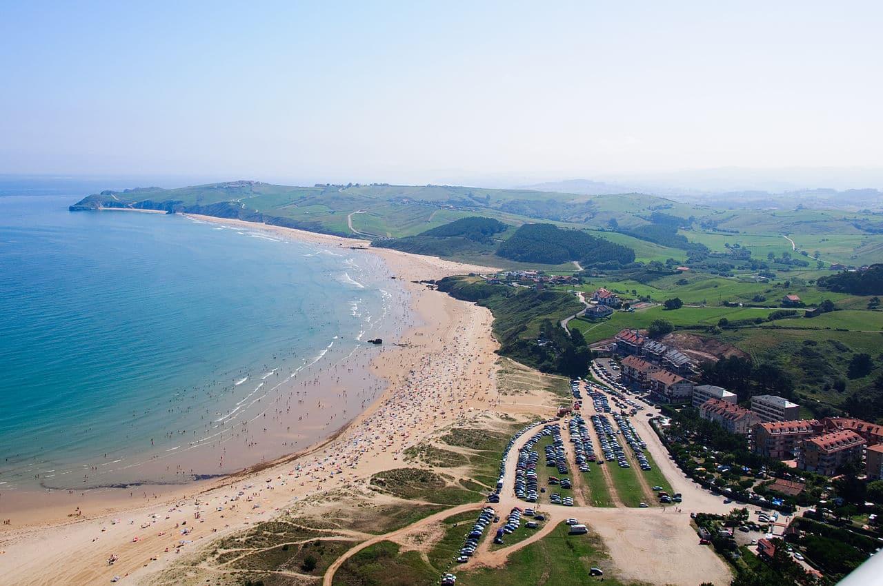 Vista de la playa de Merón