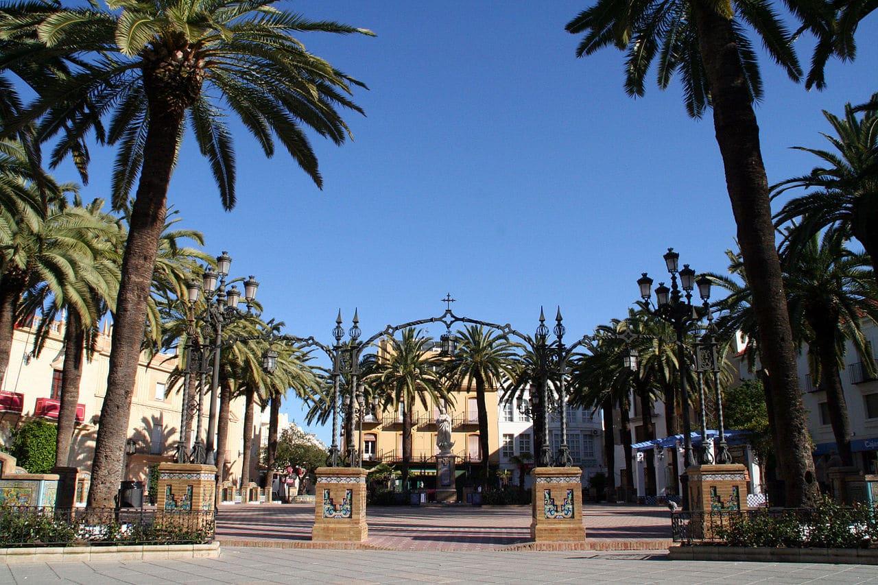 La plaza de la Laguna en Ayamonte