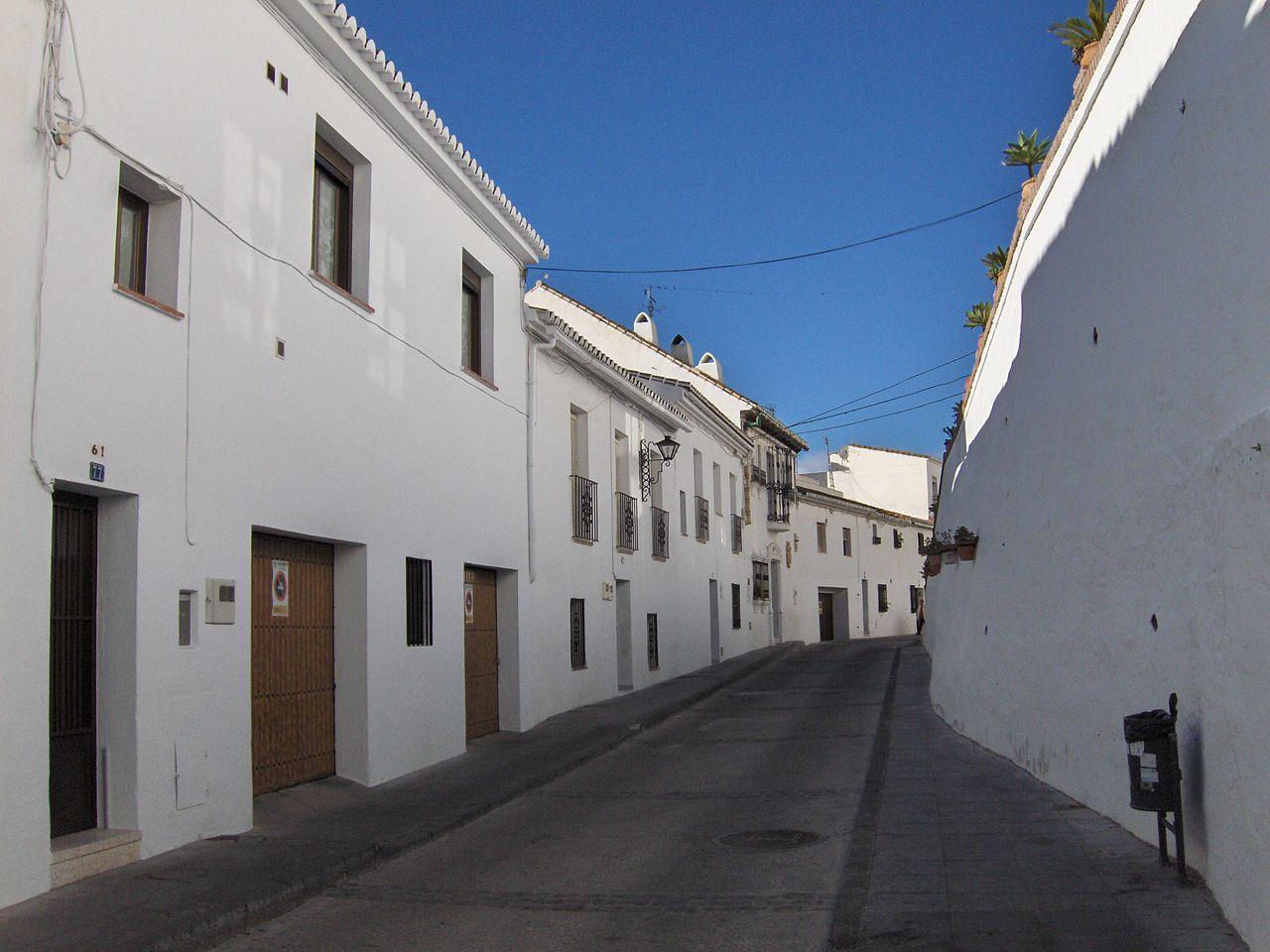 Una calle de Mijas
