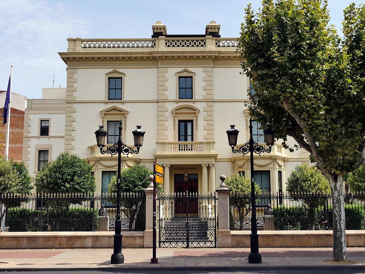 El antiguo palacio de la Diputación