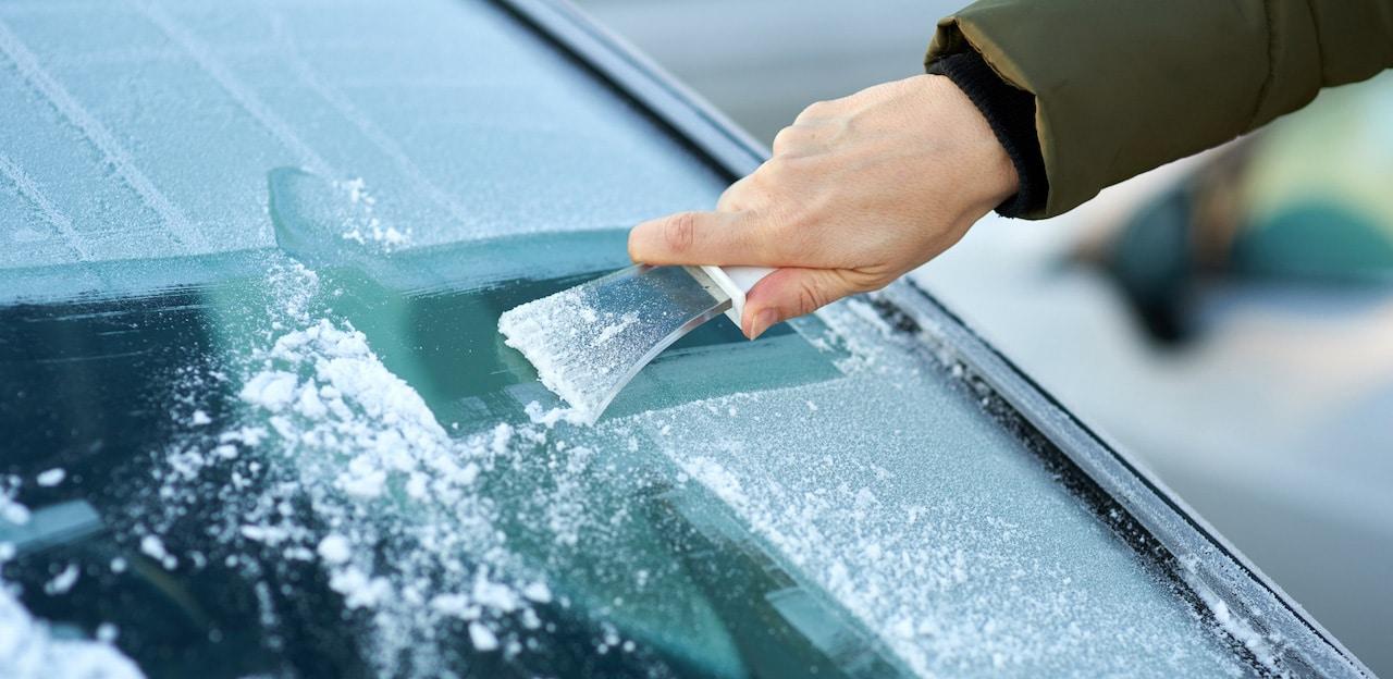 raspador hielo del coche