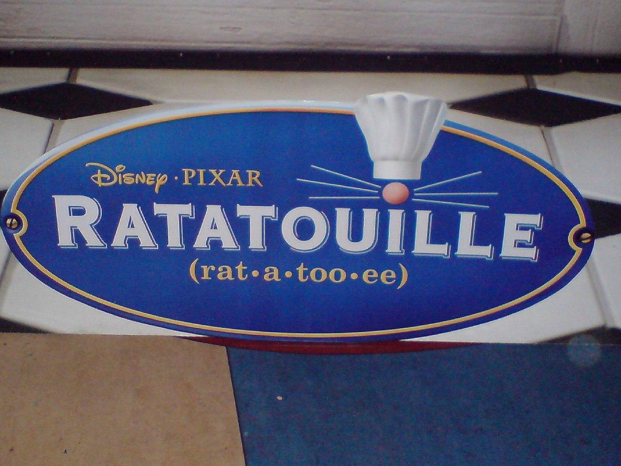 Placa de Ratatouille