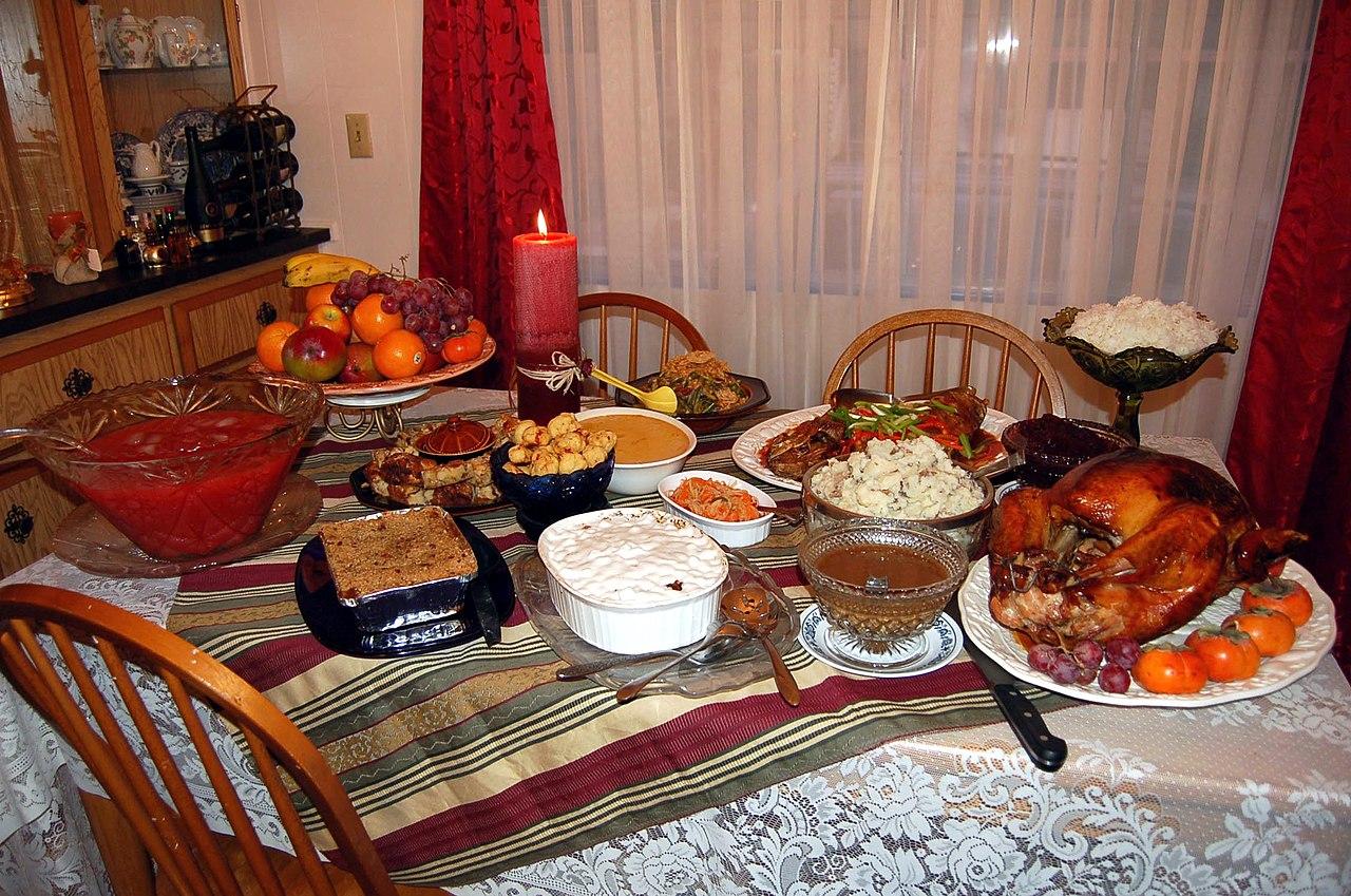 Una cena de Acción de Gracias