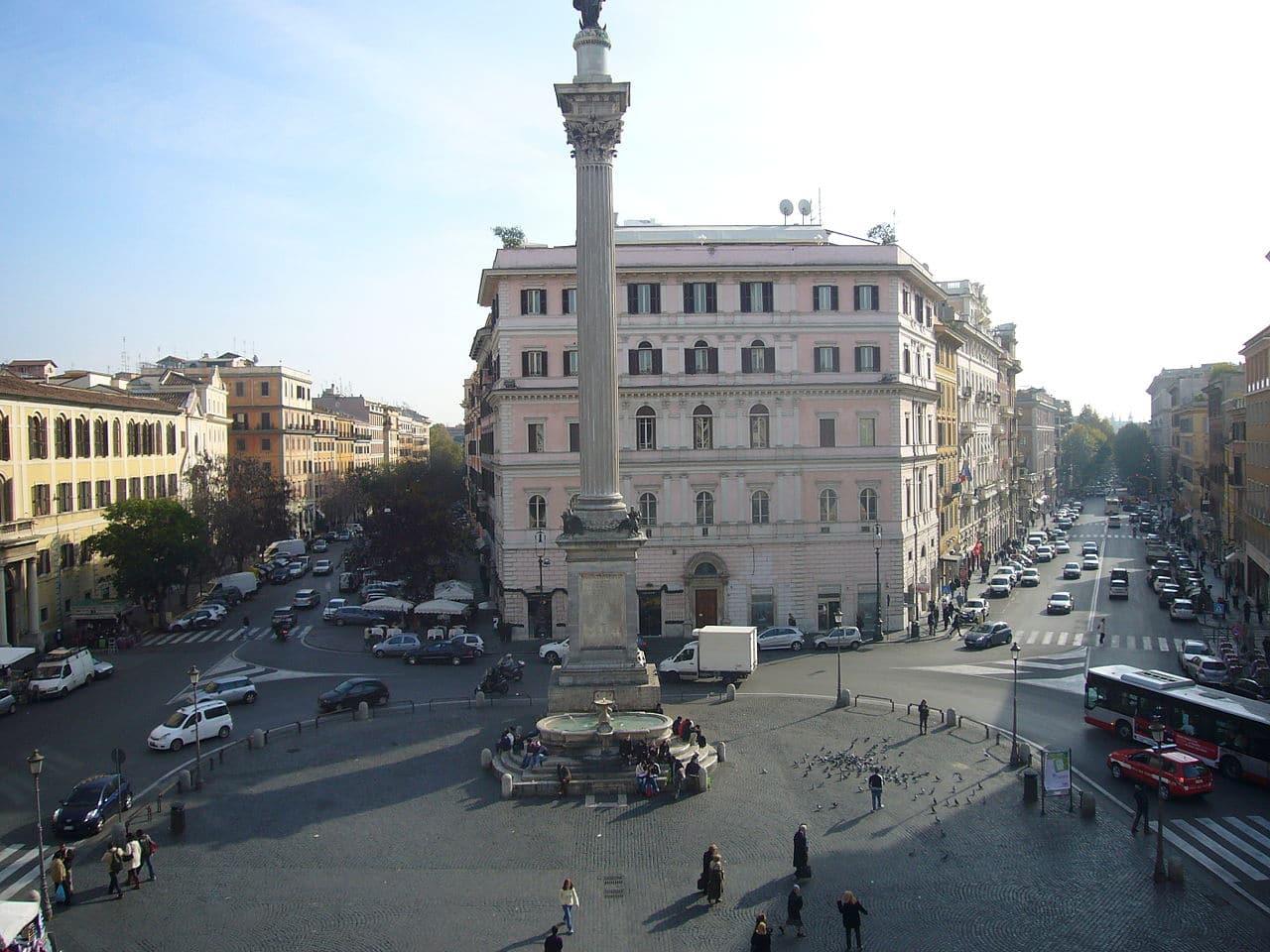 El tráfico en Roma