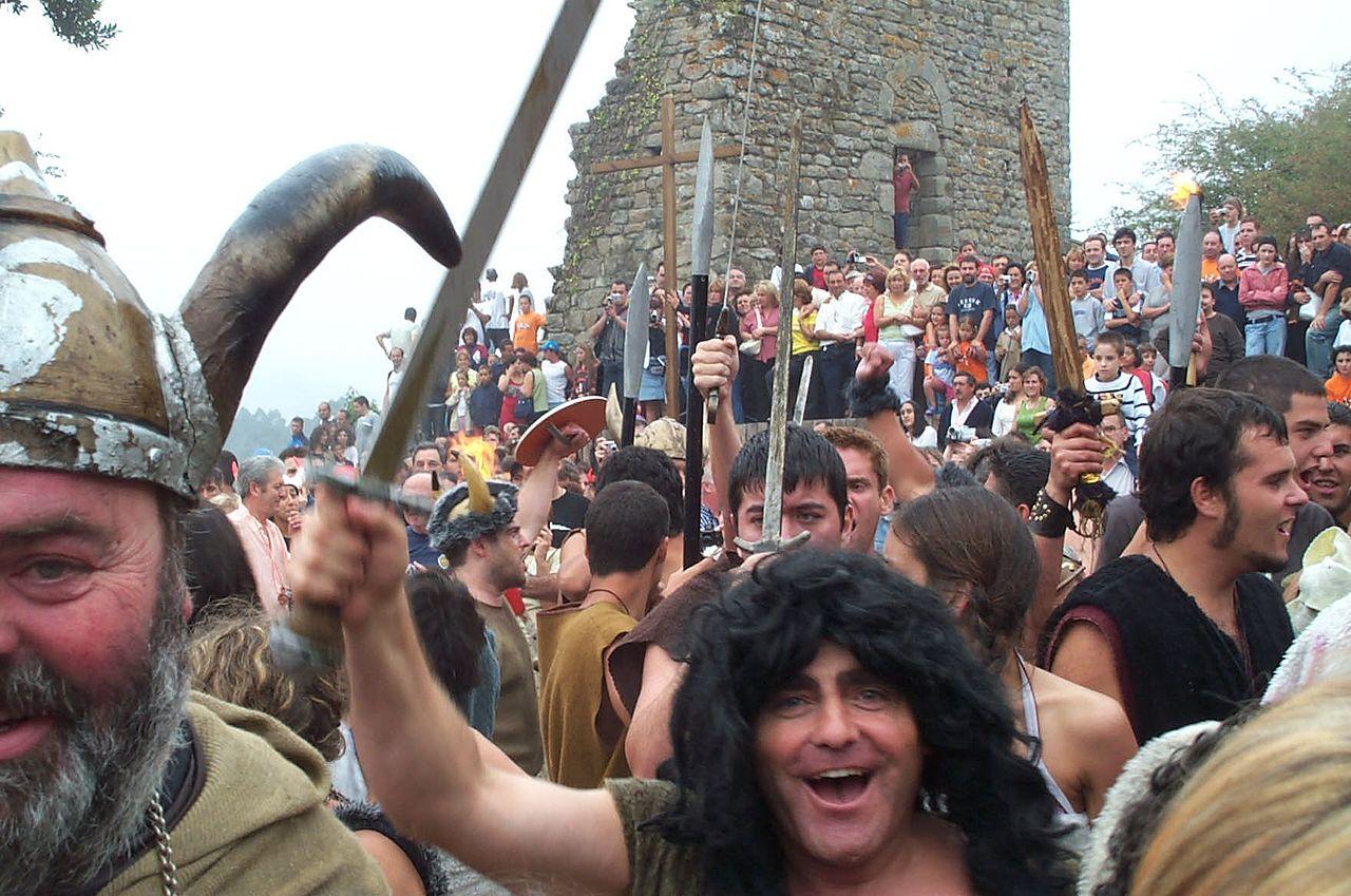 Fiesta vikinga en Catoira